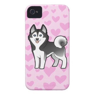Siberian Husky / Alaskan Malamute Love iPhone 4 Cases