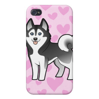 Siberian Husky / Alaskan Malamute Love iPhone 4 Cover