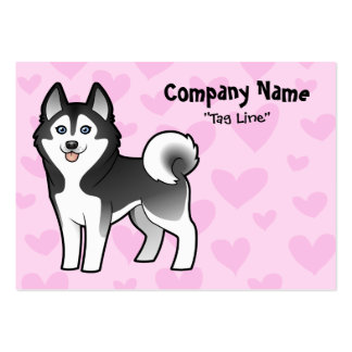 Siberian Husky / Alaskan Malamute Love Pack Of Chubby Business Cards