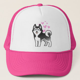 Siberian Husky / Alaskan Malamute Love Trucker Hat