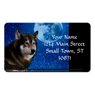Siberian husky and the Blue Moon Pack Of Standard Business Cards