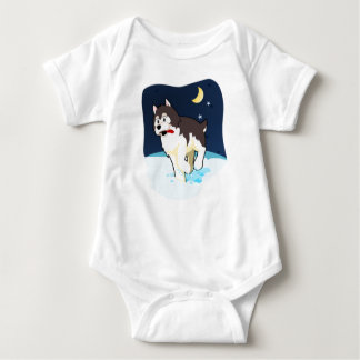 Siberian Husky Baby One Piece Baby Bodysuit