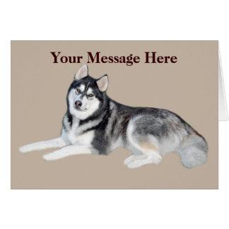 Siberian Husky Beautiful Greeting Card