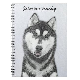 Siberian Husky (Black and White) Notebook