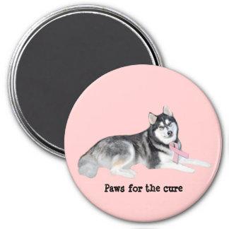 Siberian Husky Breast Cancer Magnet
