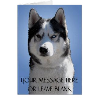 Siberian Husky Card / Alaskan Malamute Card Blank