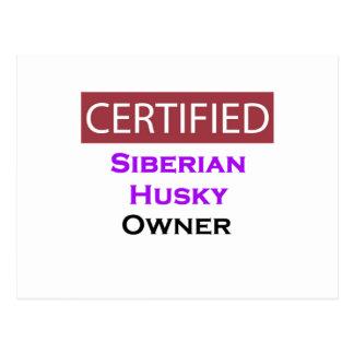 Siberian Husky Certified Owner Postcard