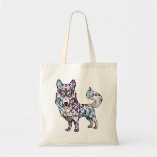 Siberian Husky - Colored Tote Bag