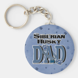 Siberian Husky DAD Key Ring