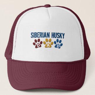 SIBERIAN HUSKY  Dad Paw Print 1 Trucker Hat