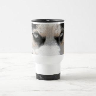 Siberian Husky Demon 4 Travel Mug