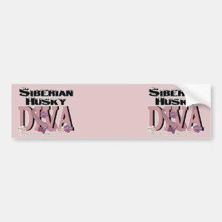 Siberian Husky DIVA Bumper Sticker