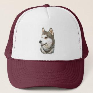 Siberian Husky Dog Art Trucker Hat