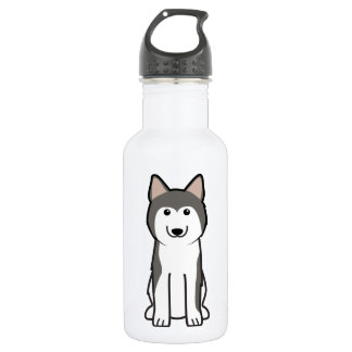 Siberian Husky Dog Cartoon 532 Ml Water Bottle