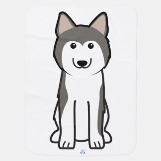 Siberian Husky Dog Cartoon Baby Blankets