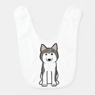 Siberian Husky Dog Cartoon Bib