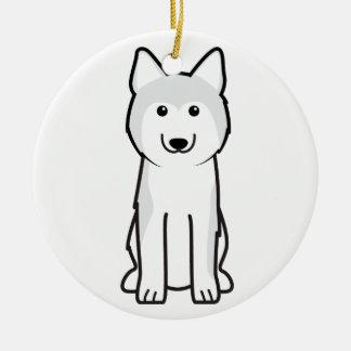 Siberian Husky Dog Cartoon Christmas Ornament