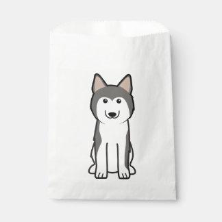 Siberian Husky Dog Cartoon Favour Bags