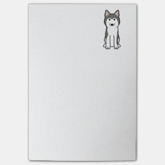 Siberian Husky Dog Cartoon Post-it Notes