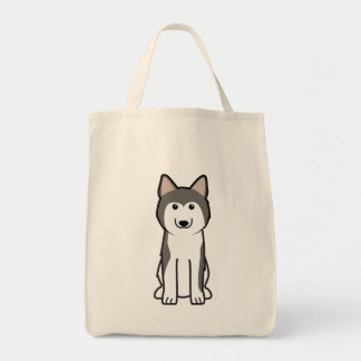 Siberian Husky Dog Cartoon Tote Bag