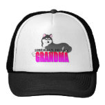 Siberian Husky Dog Grandma Mesh Hats