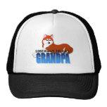 Siberian Husky Dog Grandpa Mesh Hat