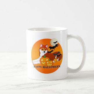 Siberian Husky Dog Halloween Coffee Mug