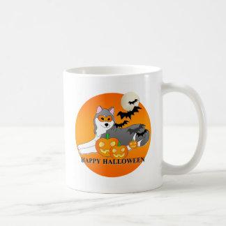 Siberian Husky Dog Halloween Mug