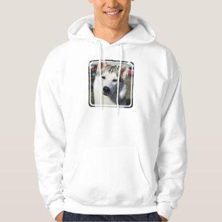 Siberian Husky Dog Hooded Sweatshirt