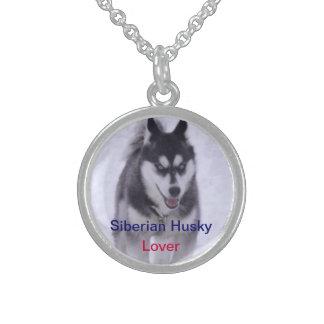 Siberian Husky Dog Lover Nicklace Round Pendant Necklace