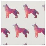 Siberian Husky Dog Silhouette Tiled Fabric