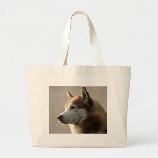 Siberian Husky Dogs Large Tote Bag