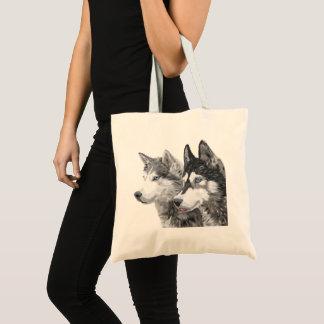Siberian Husky Dogs Tote Bag