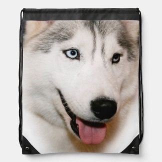 SIBERIAN HUSKY DRAWSTRING BACKPACK
