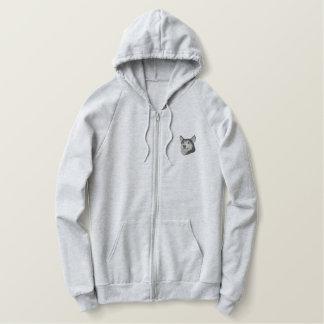 Siberian Husky Embroidered Hooded Sweatshirts