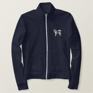 Siberian Husky Embroidered Jacket