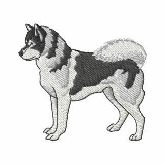 Siberian Husky Embroidered Polo Shirt
