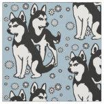 Siberian Husky fabric