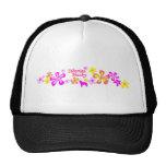 Siberian Husky Flowers Hat