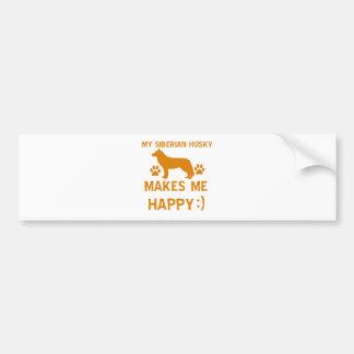 Siberian Husky gift items Bumper Sticker