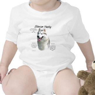 Siberian Husky History Design Tee Shirts