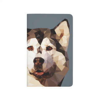 Siberian Husky Low Poly Art Journal