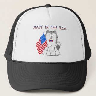 Siberian Husky Made In The USA Hat