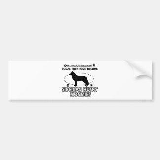 Siberian Husky Mommy designs Bumper Stickers