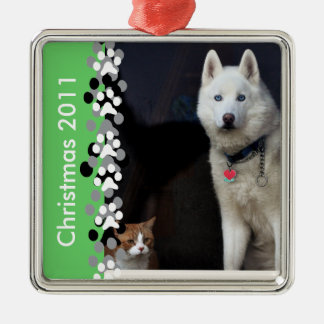 Siberian Husky Photo Christmas Ornament