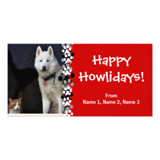 Siberian Husky Photo Personalized Photo Card