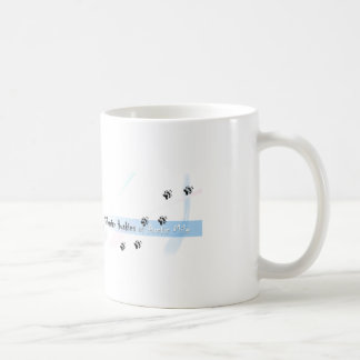 Siberian Husky Puppie with lights Coffee Mug