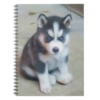 Siberian Husky puppy Notebook