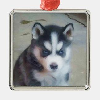 Siberian Husky Puppy Ornament