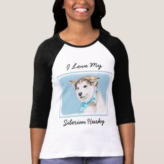 Siberian Husky Puppy Painting - Original Dog Art T-Shirt